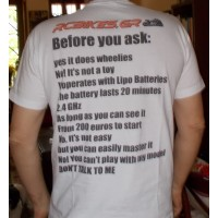 rcbikes.gr t-shirt with rc bike message